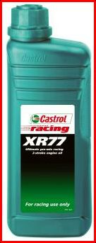 Classic Trial: Picture of Castrol XR77 2 stroke oil contianer.