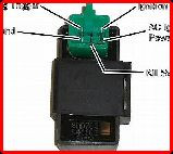 ClassicTrial picture, Chinese 5 pin CDI unit showing connection detail, click to enlarge, click pop-up to close.